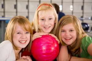 Children Bowling